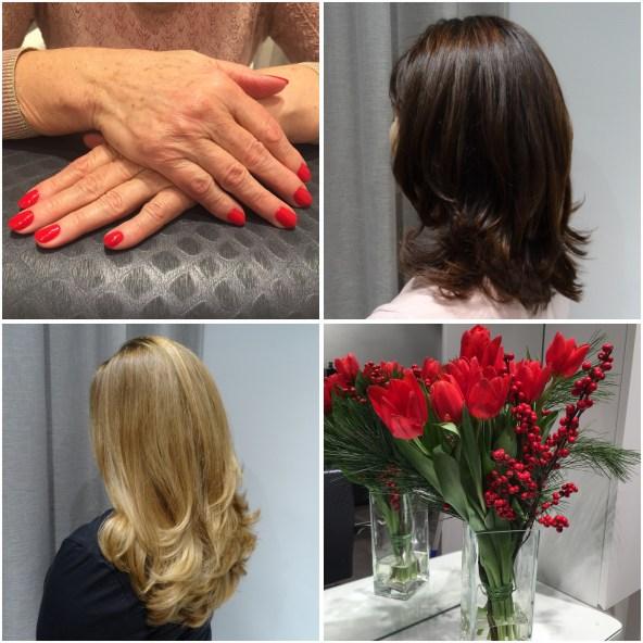 Vackra nagel och hårfärger skapas nu till Jul!