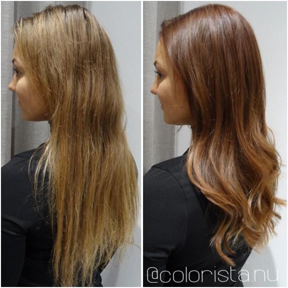 Bella och Filippa fick vackra hår hos oss på Colours