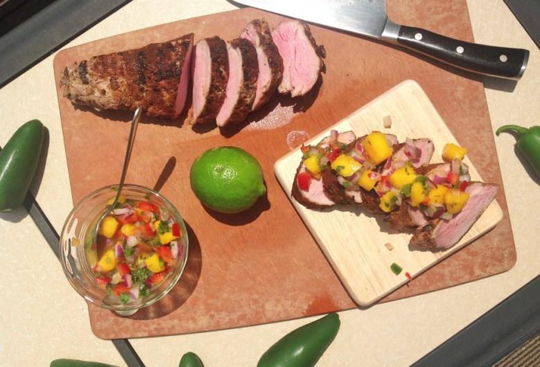 Paleo Chili-Rubbed Pork with Mango Salsa