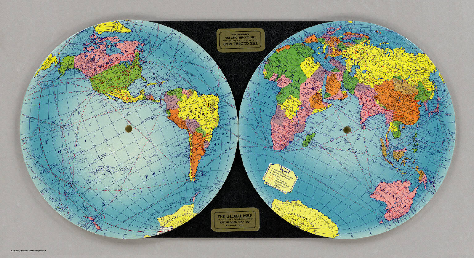 The Global Map    Global Map Company   1940 Global Map Company   1940