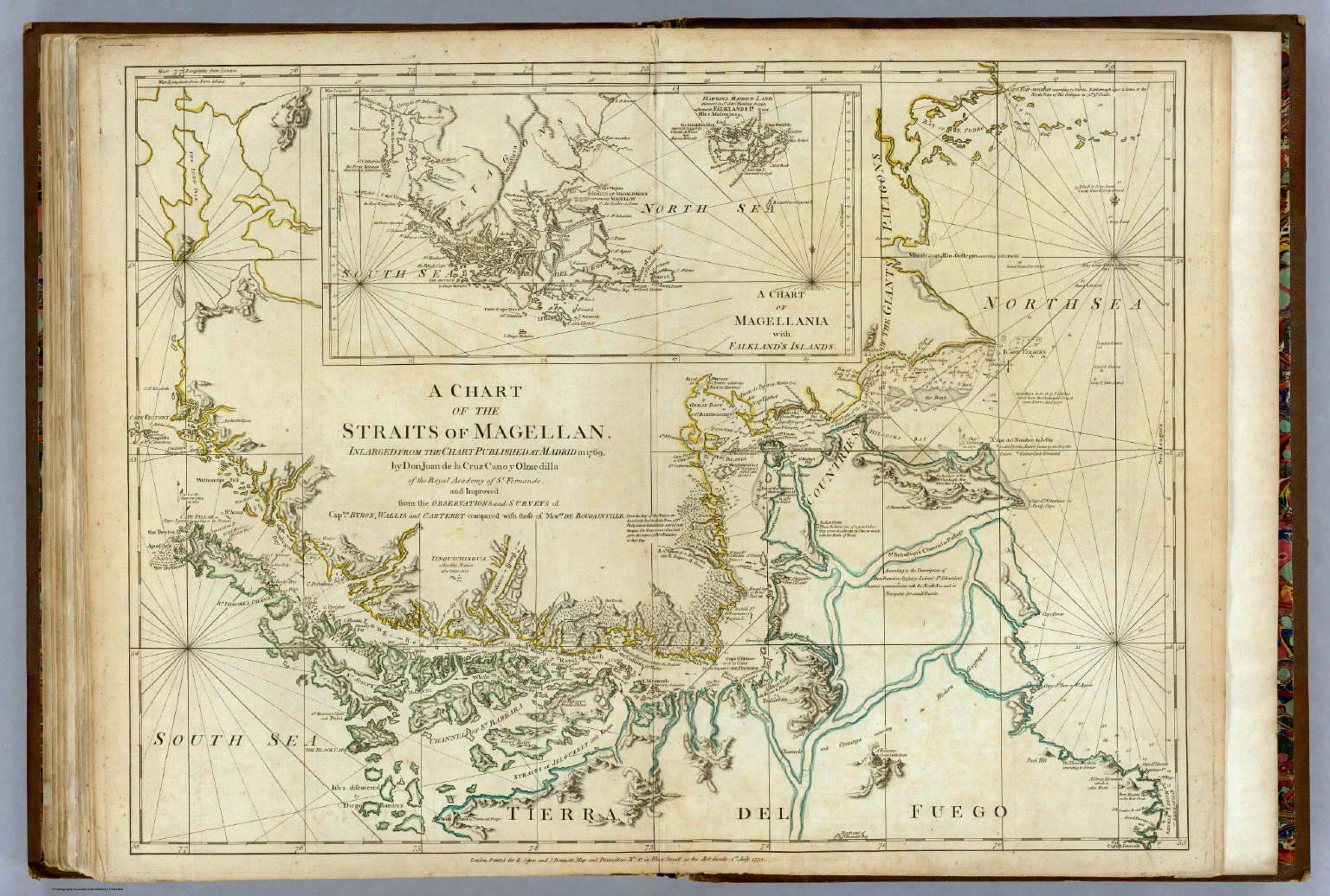 Chart Of The Straits Of Magellan    David Rumsey Historical Map     Chart Of The Straits Of Magellan