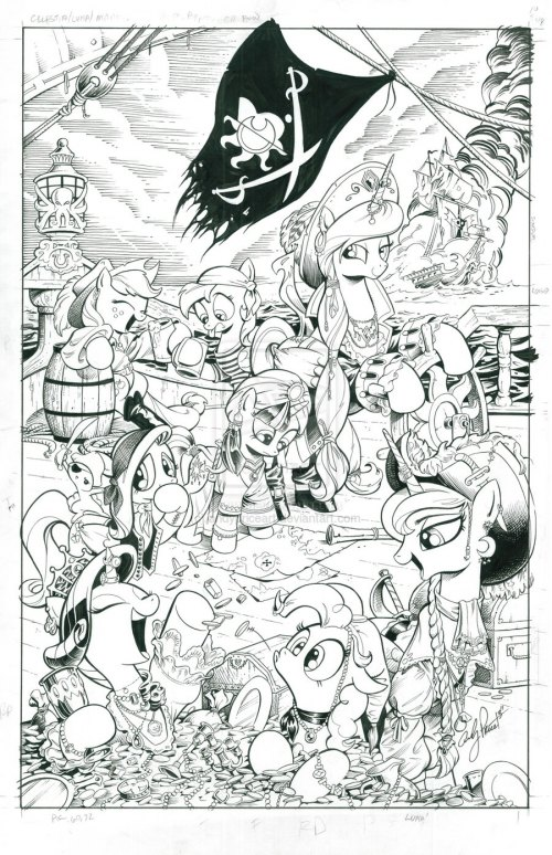 My Little Pirate (#13 cover) by andypriceart