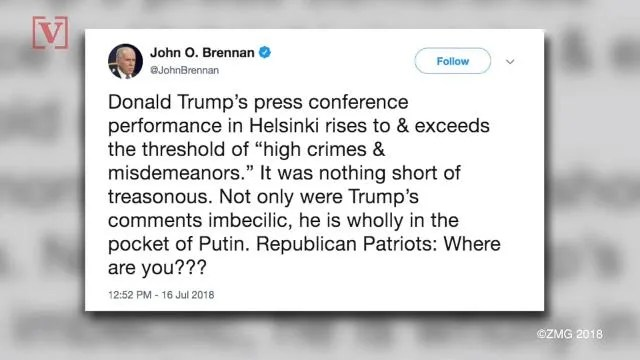 Dictionary.com tweeted definition of 'Traitor' after Trump met Putin