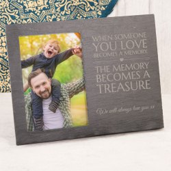 Astounding Engraved Slate Chalkboard Photo Frame When Someone You Love A Engraved Frames 5x7 Engraved Frames Baby
