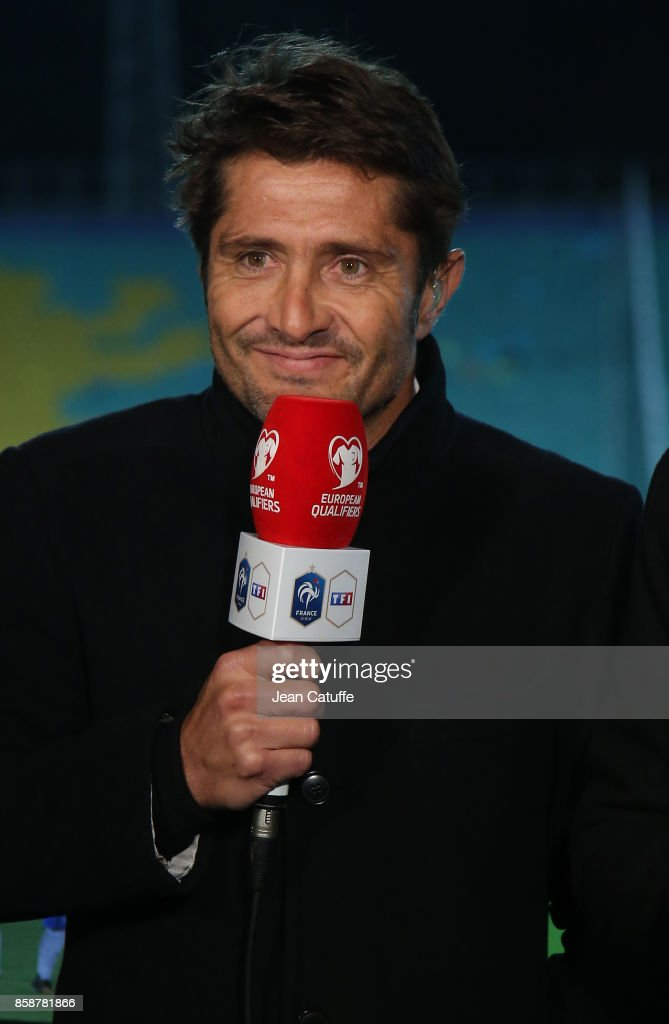 Bixente Lizarazu Pictures and Photos   Getty Images Bixente Lizarazu of TF1 commentates the FIFA 2018 World Cup Qualifier  between Bulgaria and France at