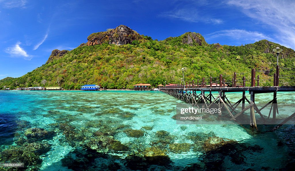 Island Of Borneo Stock Photos and Pictures   Getty Images Bohey Dulang Island  Semporna  Borneo  Malaysia