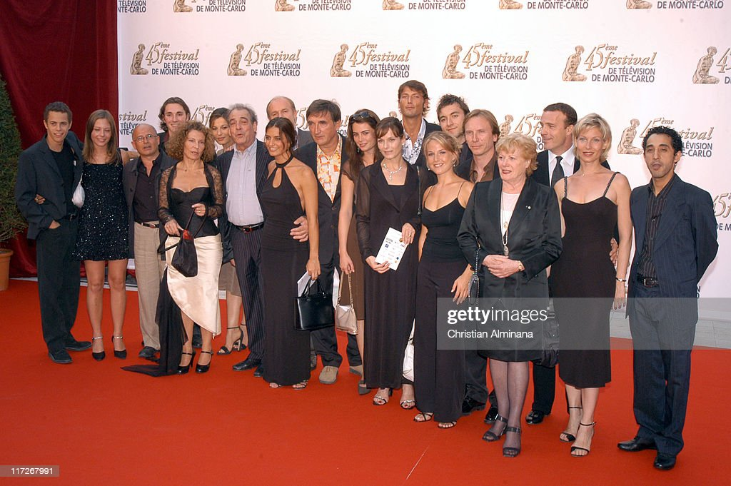 Plus Belle La Vie Stock Photos and Pictures   Getty Images Cast of Plus Belle La Vie during 45th Monte Carlo Television Festival  Opening Ceremony Red Carpet