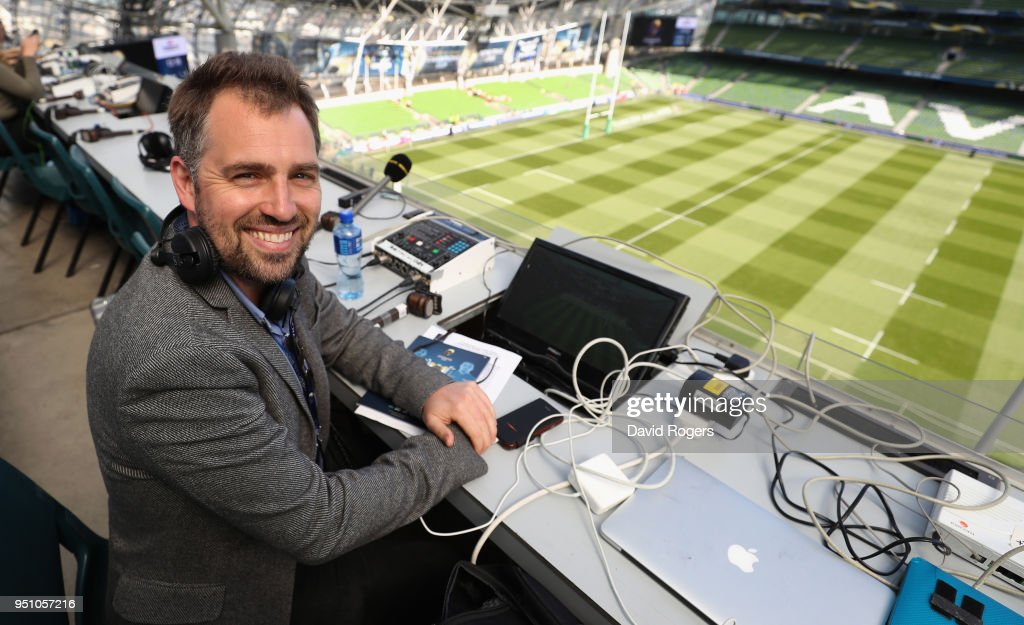 Bbc Radio 5 Live Stock Photos and Pictures   Getty Images Chris Jones the BBC Radio 5 Live rugby commentator prior to during the  European Rugby Champions