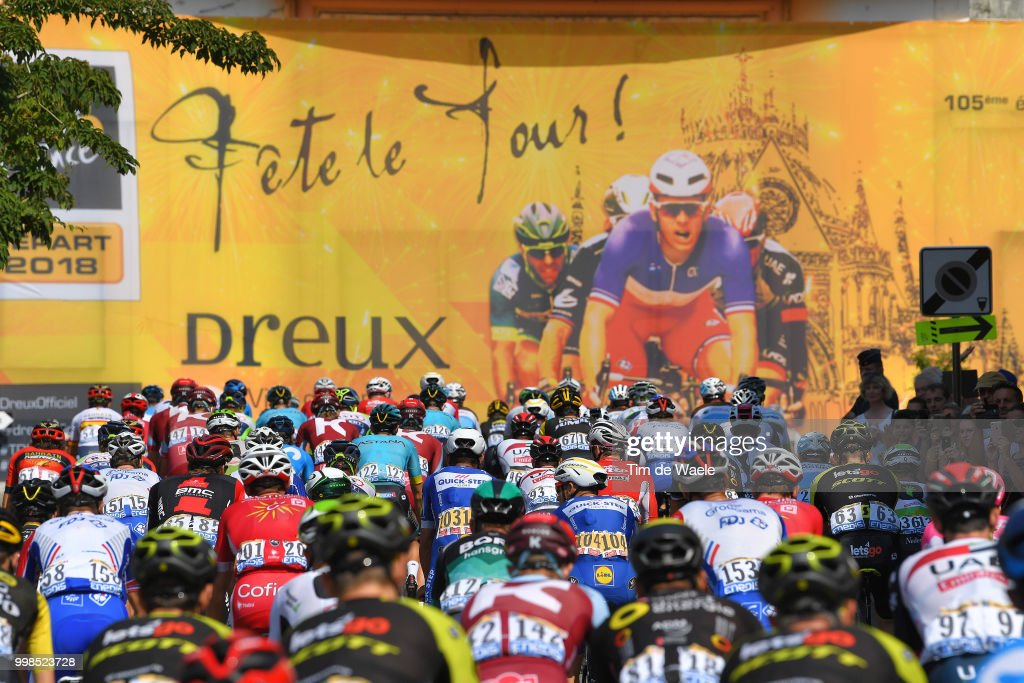 Le Tour de France 2018   Stage Eight Photos and Images   Getty Images Start   Peloton   Landscape   during the 105th Tour de France 2018  Stage 8