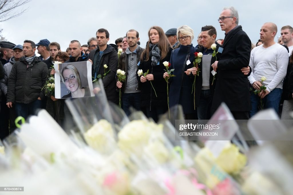 The relatives of murdered French woman Alexia Daval   From 2nd R     The relatives of murdered French woman Alexia Daval   From 2nd R  her father