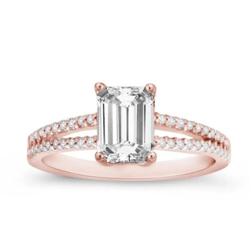 Large Of Lab Created Diamond Rings