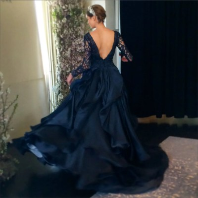 New Wedding Dresses, Wedding Gowns: Navy Blue Dresses ...