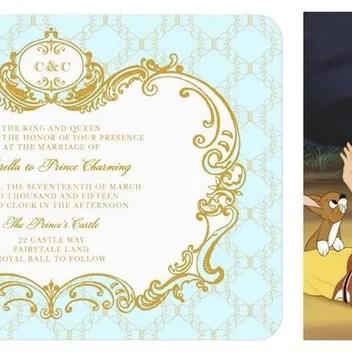N 7 RIVER Disney Princess Wedding Invitations 0311