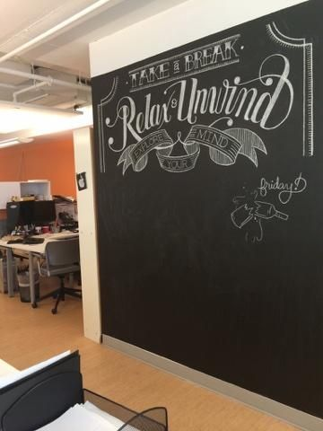H Chalkboard In The Back Of Office  Grafik Marketing Communications  United States