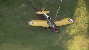 Harrison Ford recovering after plane crash lands into golf course