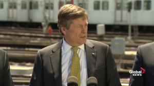 Mayor Tory says federal money will address reliability issues on TTC