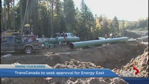 Application filed for energy east pipeline