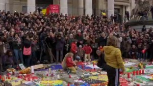 Belgians hold emotional moment of silence in Brussels
