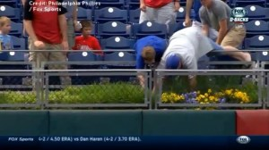 Phillies fan wrenches home run ball away from 63-year-old woman