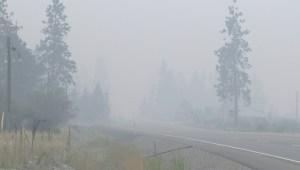 Okanagan smoke may linger for a few days