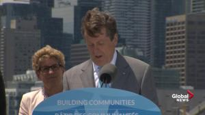 Flood prevention project will 'unlock' Toronto waterfront: John Tory