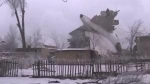 Kyrgyzstan cargo plane crashes into homes killing dozens