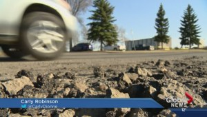 Potholes frustrating Saskatoon drivers