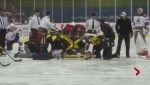 Craig Cunningham collapses before AHL game
