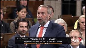 Mulcair hammers Trudeau over pledge not to build pipelines in Great Bear Rainforest