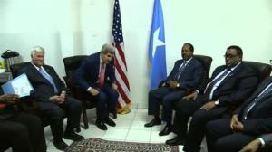 John Kerry makes surprise visit to war-torn Somalia