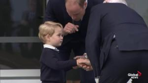 Governor General says goodbye to Prince George and Princess Charlotte