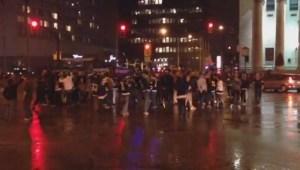 Winnipeg Jets fans celebrate playoff spot