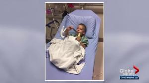 Alberta mom warns of barbecue brush hazard after son is sent to hospital