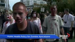 How would public health officials deal with a zombie apocalypse?