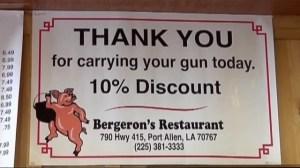 Louisiana restaurant's promotion sparks criticism