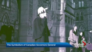 The symbolism of Canadian governors general