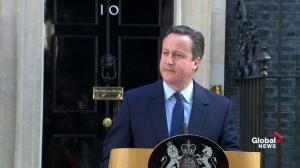 "UK Prime Minister David Cameron announces he will step aside, saying country needs ""fresh leadership"""