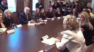 Trump and Trudeau meet with women business leaders at White House