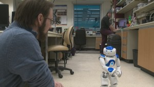 Robot talks, sits in demonstration at University of Alberta artificial intelligence lab