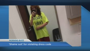 Teenager forced to wear 'shame suit' after violating school dress code