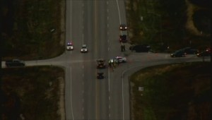 Aerial footage shows Grosse Isle crash