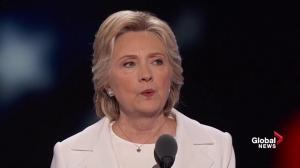 'We also can't afford to have a president who's in the pocket of the gun lobby': Hillary Clinton at DNC