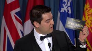 Halifax councillor Brad Johns handed Teddy Waste Award