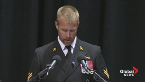 Const. Douglas Larche's brother Daniel gives emotional eulogy