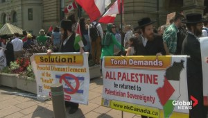 Anti-Israel protest held in Ottawa