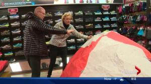 Lorraine on location: Winter camping tips with Campers Village and The Running Room