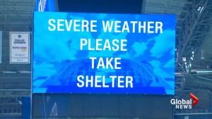 Texas tornado destroys 30 homes, strands football fans at Dallas Cowboys' stadium
