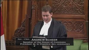 House Speaker Andrew Scheer addresses neutrality controversy