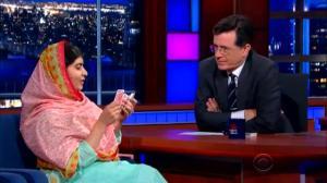 Malala Yousafzai wows Stephen Colbert with magic trick