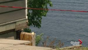Grandview Beach lakeside collapsing
